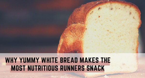 Yummy white bread nutritious snack for runners